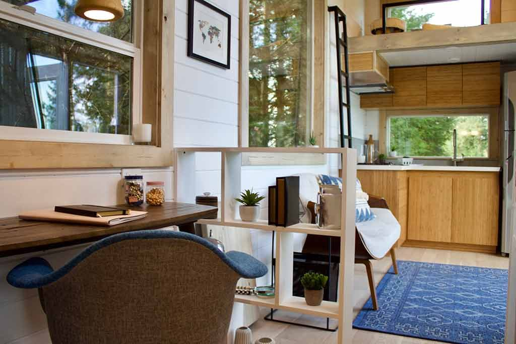 tiny house interior at home working