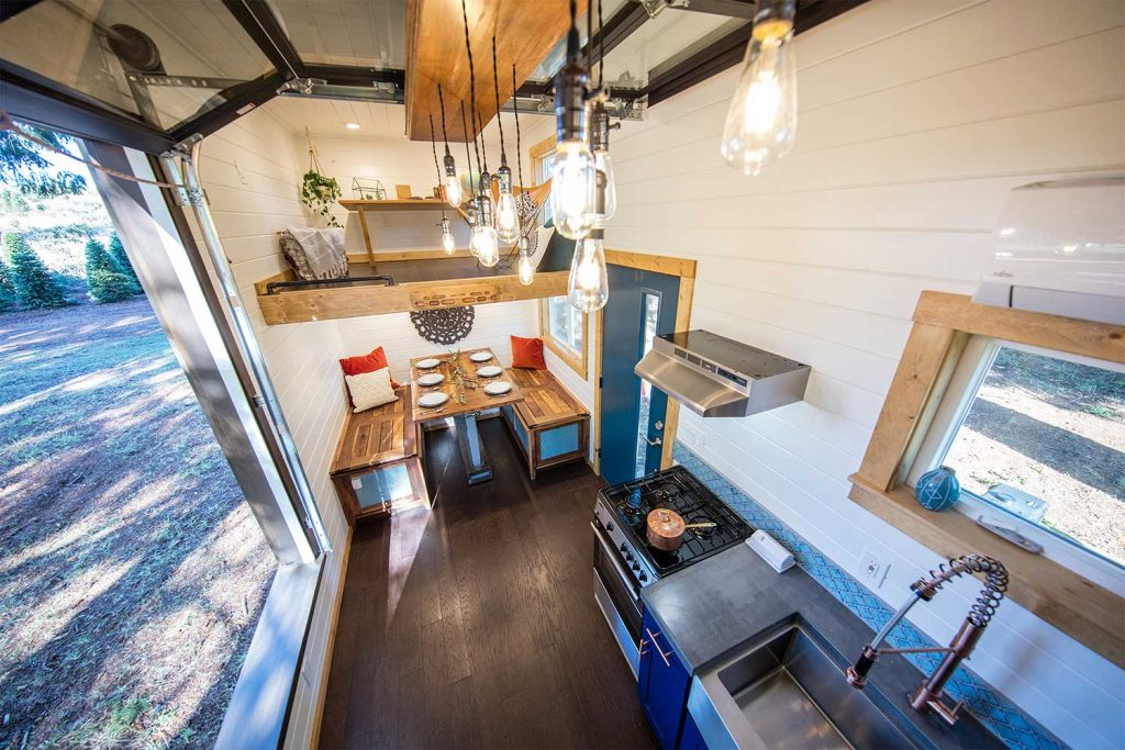 tiny house interior garage door