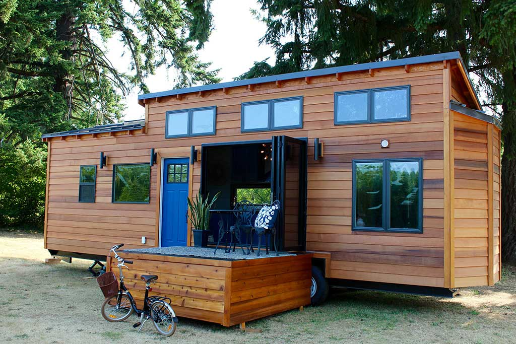 tiny home fold out deck